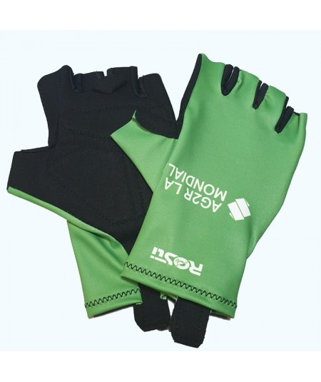 Green Tour Bike Gloves