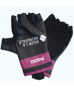 Purple and black glove AG2R-La-Mondiale