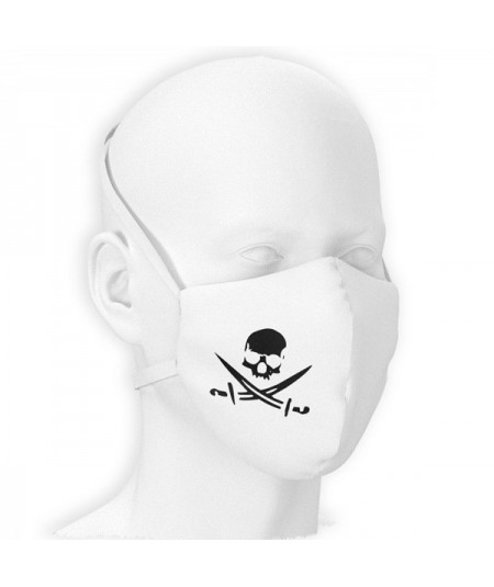 Masque filtrant 999 SKULL WHITE Pack de 10 pièces
