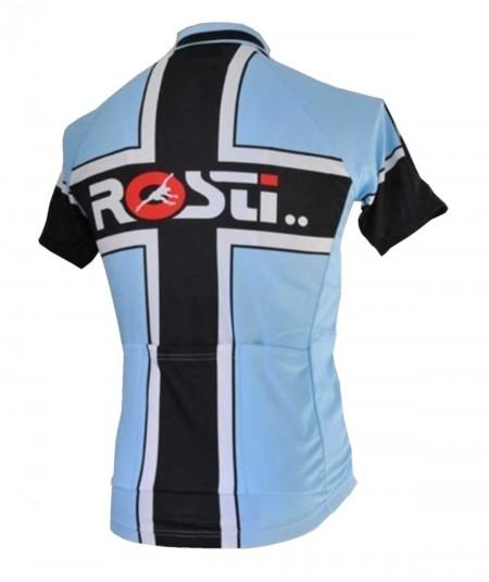 Maillot Rosti Croix Noir et Bleu de dos