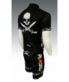 Maillot de velo Rosti Pirate Noir