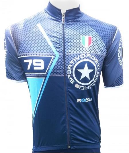 Maillot de vélo rosti blu