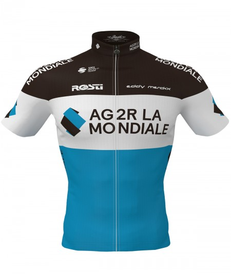 AG2R short sleeve winter jersey front view